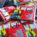 NO WAY OUT! 2 SQUARE BADGES