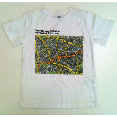 Saint Etienne - 'Words and Music' White Childrens Tee