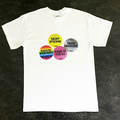 Home Counties - Mens White Tee - multi sticker design