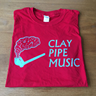 Clay Pipe T-Shirt in Red (new Design)