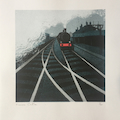 Gilroy Mere - Over the Tracks. Risograph print.