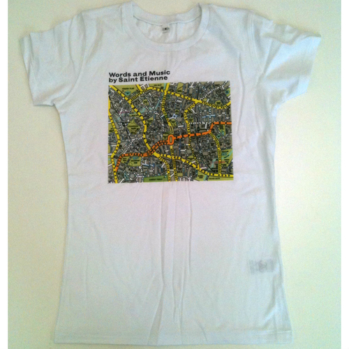 Saint Etienne - 'Words and Music' White Ladies Tee