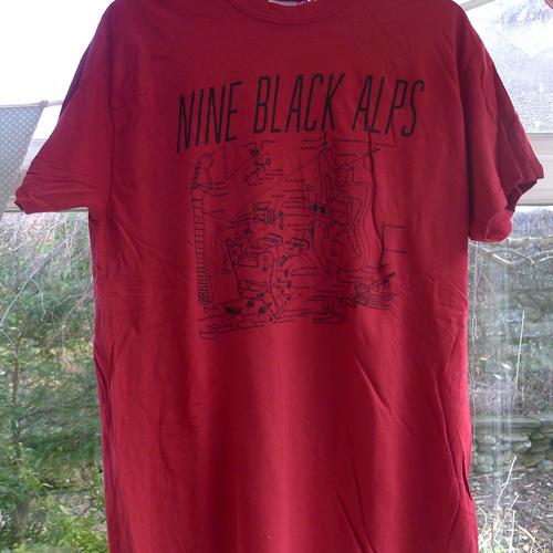 Nine Black Alps - Nine Black Alps Red Guitar T-shirt