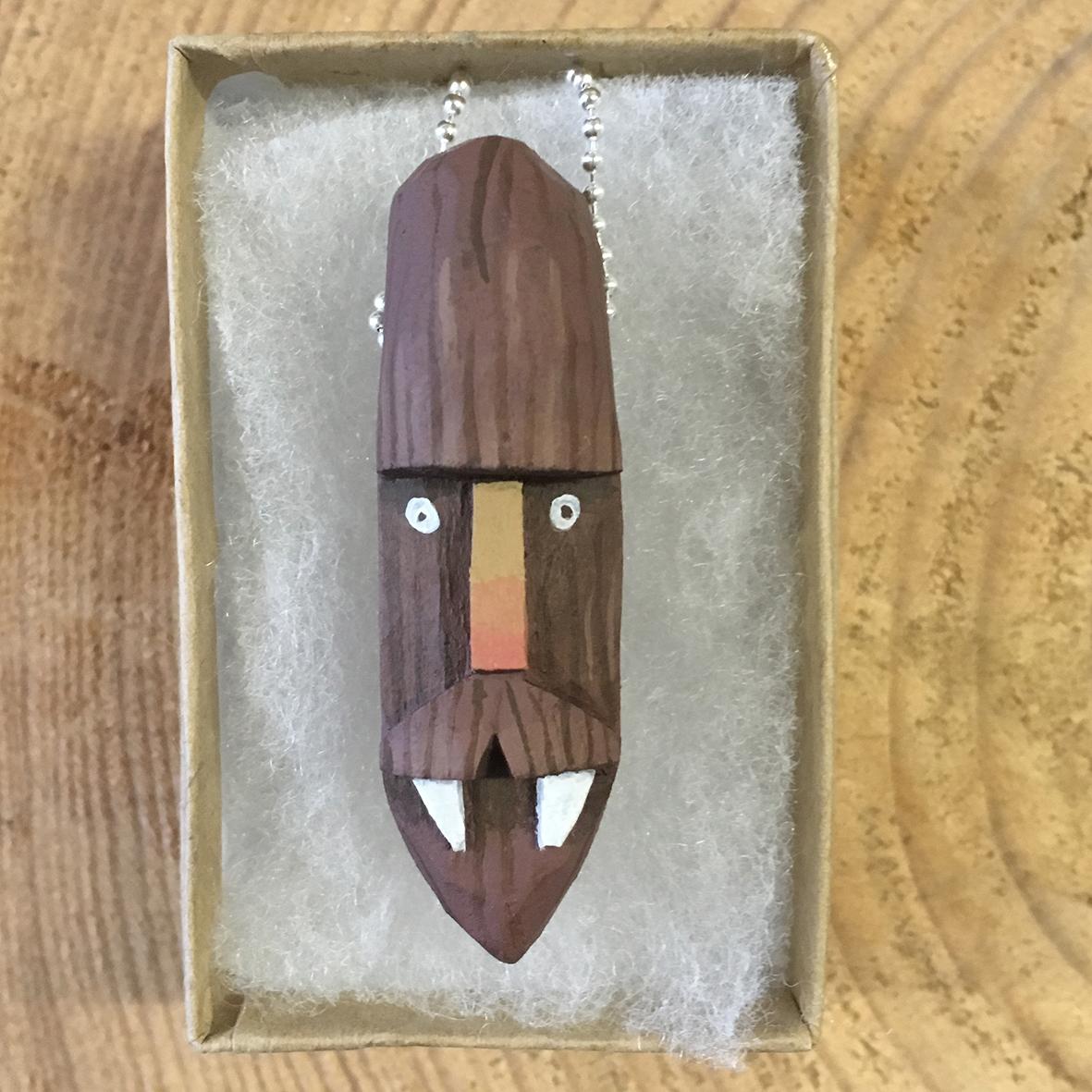 Bigfoot 1 wooden pendant
