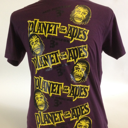 Very Limited Planet Of The Apes Bubble Gum Tee In Deep Purple
