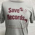 SAVE RECORDS GREY / RED TEE
