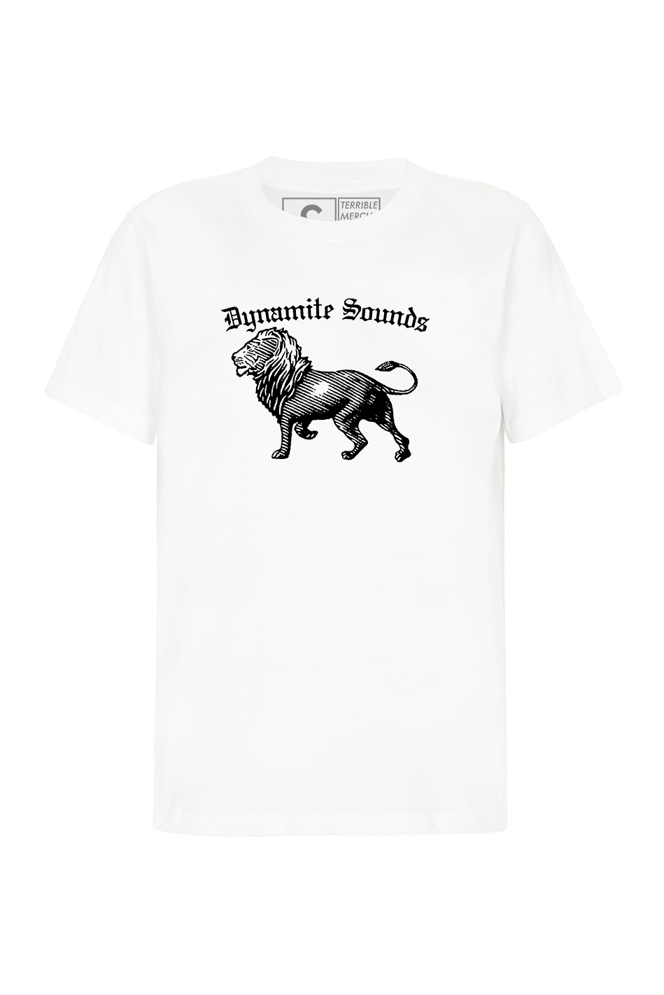 Dynamite Sounds Black Logo on White T Shirt