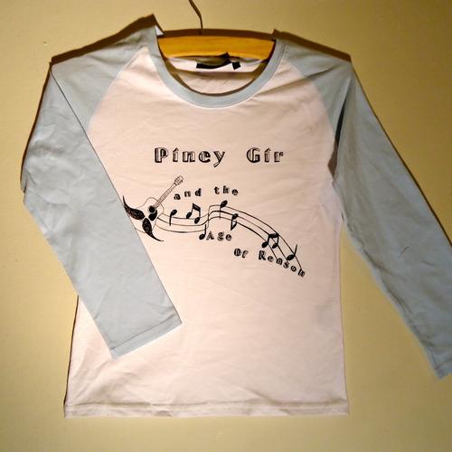 Piney Gir - Age Of Reason ladies light blue baseball top