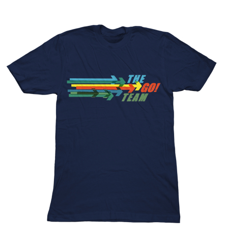 The Go! Team - Arrow Logo T shirt - Mens Navy