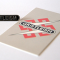 TG Gristleism Metal Pin Badge & Card of Gristleisms