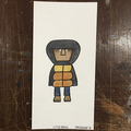 Little Ernie painting on paper