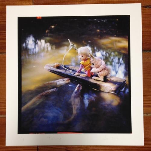 LARGE Pogle Print 1: Fishing