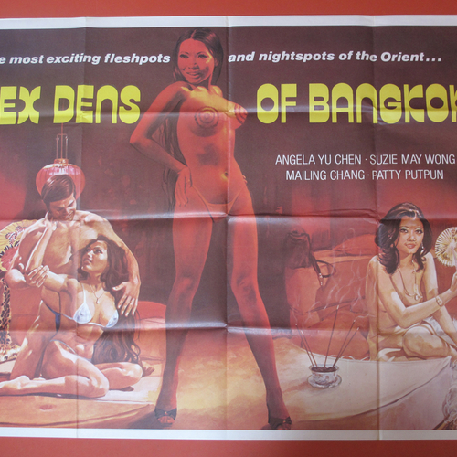 Sex Dens Of Bangkok. Rare UK Quad