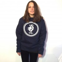 Circular Bird Navy Sweatshirt