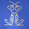 Vision On t-shirt Blue and Gold