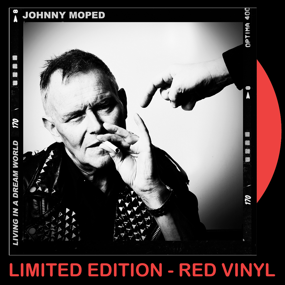 """Johnny Moped - Living In A Dream World - RED VINYL 7"""""""