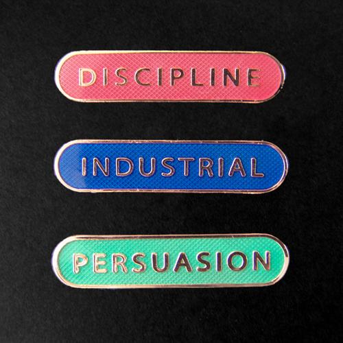 Throbbing Gristle - Throbbing Gristle 3 Badge Set - School badges