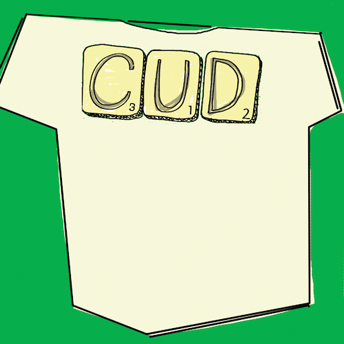Cud, Led Zeppelin - NEW SCRABBLE TEE