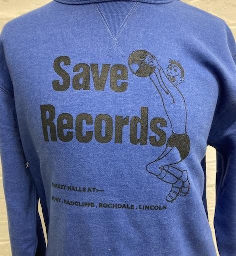 SAVE RECORDS BLUE SWEATSHIRT