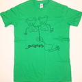 Green Hand Drawn Doodle T Shirt