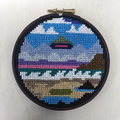 Beach Sighting cross stitch embroidery