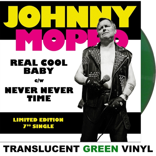 "Johnny Moped - Real Cool Baby 7"" (Green Vinyl)"