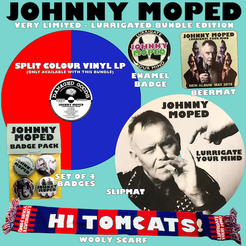 Johnny Moped - Lurrigate Your MInd - LIMITED SPLIT COLOUR VINYL BUNDLE