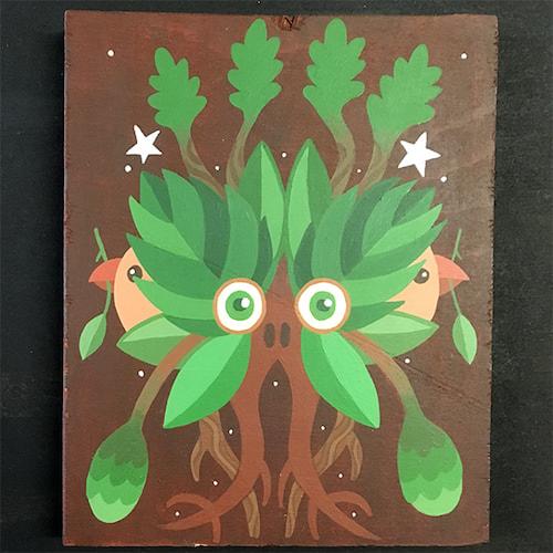 Alder Wood Sprite painting