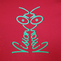Vision On t-shirt in tomato and lime