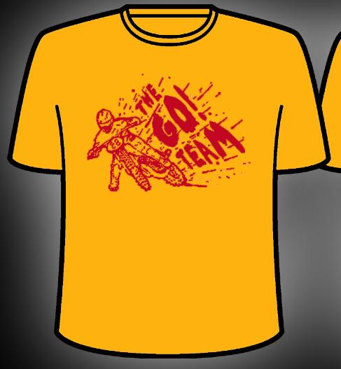The Go! Team - Men's Yellow Go! Team Biker T-Shirt