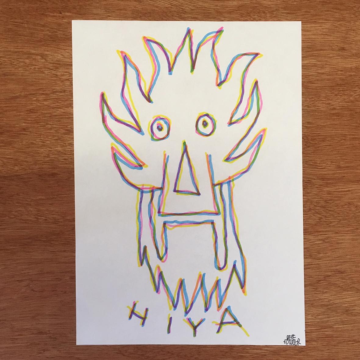 Left Hiya 2 drawing
