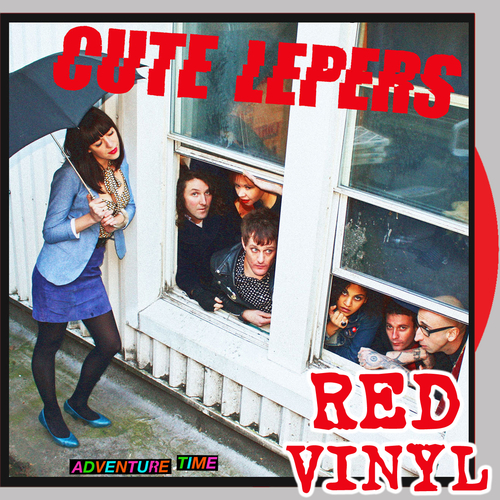 The Cute Lepers - The Cute Lepers - Adventure Time LP (Red vinyl)