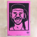 Larry Levan lino print pink