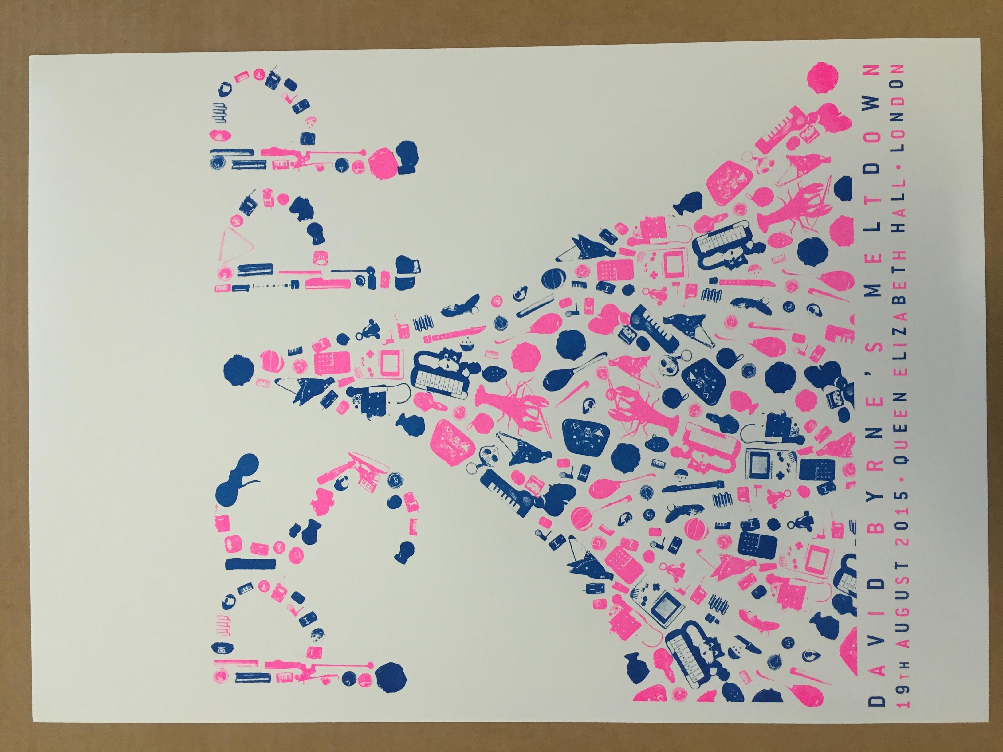 David Byrne's Meltdown Poster