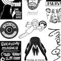 Trunk Anniversary Silver Sticker Sheet