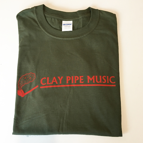 Army Green Clay Pipe Music T-Shirt