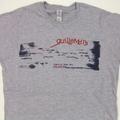 Ladies Grey Typewriter Print T-Shirt
