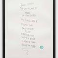 Mr. Gunslinger - Poem Print 2, 2011, hand made print from zinc plate, edition of 75