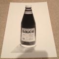Sauce Bottle Print