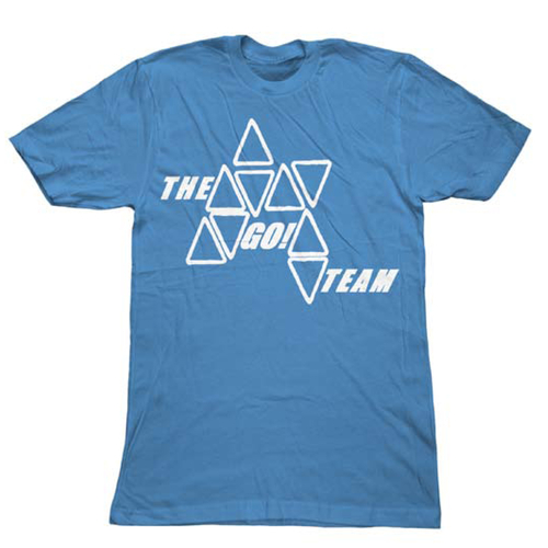 The Go! Team Blue Triangle T Shirt - Mens