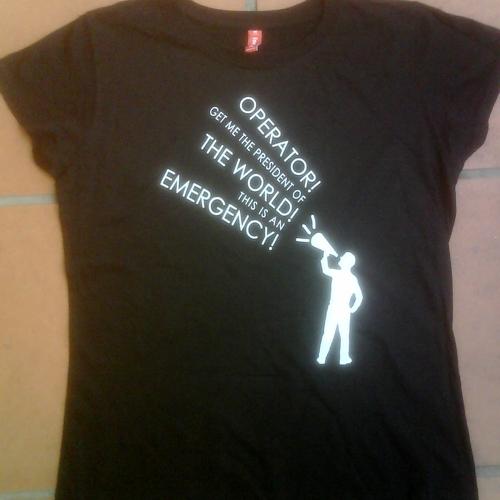 Tokyo Police Club - Woman's Black Tokyo Police Club 'Operator!' T-Shirt