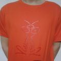 Vision On t-shirt orange/red