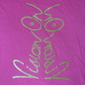 Vision On t-shirt ladies pink and gold innit