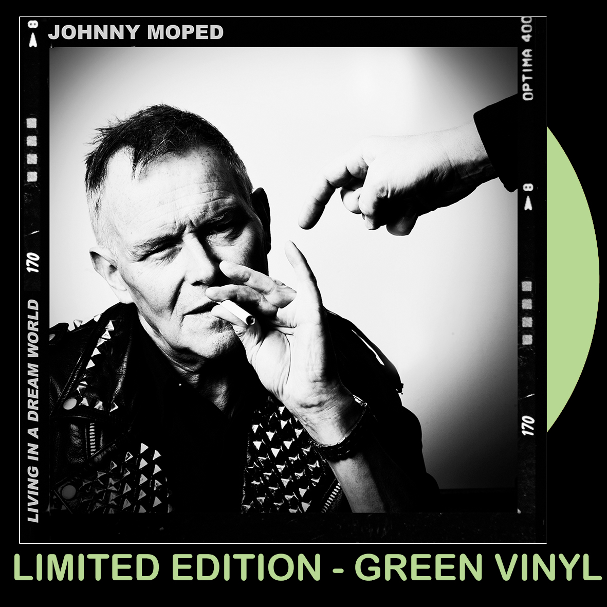 Johnny Moped - Living In A Dream World - GREEN VINYL 7""