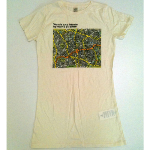 Saint Etienne - 'Words And Music' Ladies Off White Tee Shirts