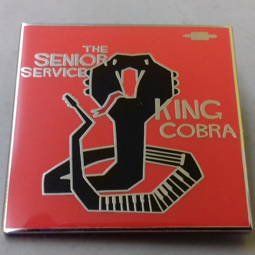 The Senior Service - The Senior Service - King Cobra ENAMEL BADGE (ORANGE)