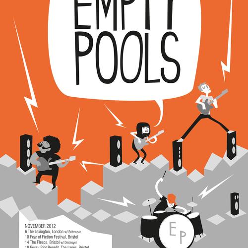 Empty Pools - UK Tour Poster