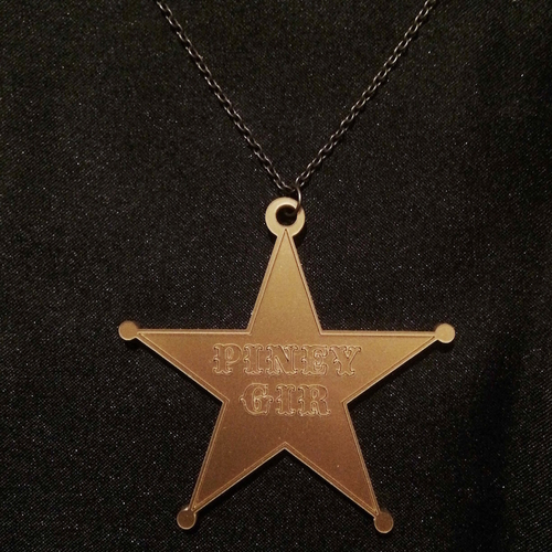 Piney Sheriff Star Necklace