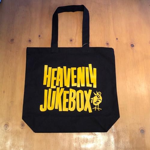 HEAVENLY JUKEBOX BLACK TOTE BAG (HEAVYWEIGHT)