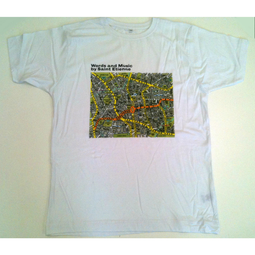 Saint Etienne - 'Words and Music' Mens White Tee